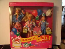 Mattel Toys R Us Birthday Fun at McDonald's Barbie, Stacie & Todd 1993