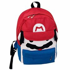 1x Super Mario Bros. Red Mario Canvas Backpack Student School Bag Birthday Gift