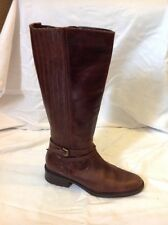Marks&Spencer Brown Mid Calf Leather Boots Size 5