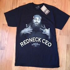 """Duck Dynasty Men's Black T-Shirt Willie """"Red Neck CEO"""" Duck Calls Size S"""