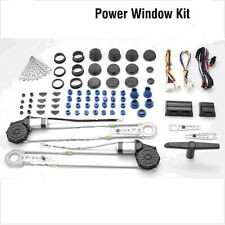 Car Truck Auto Universal Electric 2 Power Roll Up Switch Window Kit High Quality