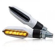 Mini led Clignotant Slight Pour Moto,noir/blanc,signaux fumés LED blanc