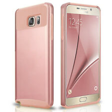 Rose Gold For Samsung Galaxy Note 5 Hybrid Shockproof Hard Rubber Case Cover New