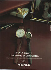 Publicité Advertising --  YEMA  QUARTZ  montres