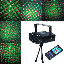 R&G Mini Xmas Party Light Projector DJ Disco LED Stage Laser Lighting + Remote