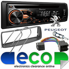 Peugeot 206 1998-10 Pioneer CD MP3 USB Aux Car Stereo Radio & Fascia Fitting Kit