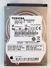 """HDD 500GB 5400RPM 2.5"""" Laptop Hard Drive / Toshiba MK5065GSXF HDD2J62 TV01"""
