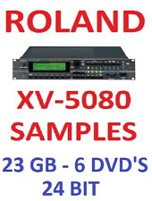 ROLAND XV-5080 SAMPLES - NATIVE INSTRUMENTS KONTAKT NKI + WAV FORMATS - 6 DVD'S