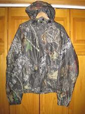 Mossy Oak waterproof camo hunting rain jacket men's M brown fishing brown