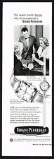 1950's Vintage 1956 Girard Perregaux Watch Co Gyromatic Watches - Paper Print AD