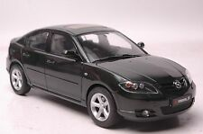 Mazda 3 car model in scale 1:18 green