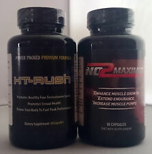 Ht Rush 60 capsules and No2 Maximus 60 capsules NEW AND SEALED