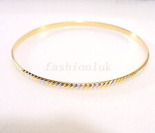 Women Fashion 18K Gold Plated Bangle Close Length (inches 8) 66mm Xmas Birthday