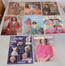 Vintage Lot of 8 Knitting  Pattern Magazines Leaflets 1970s - 1990s