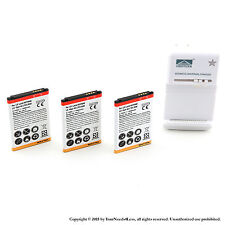 3 x 1900mah Battery for LG Lucid VS840 Viper 4G LTE LS840 Charger