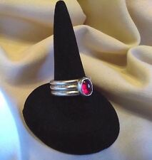 MulTiple MARID DJINN STERL SILVER GARNET RING WICCA TALISMAN AMULET Please READ!