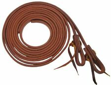 """Showman 1/2"""" X 8' Oiled Harness Leather Split Reins Made in the USA"""