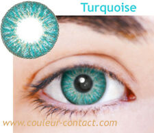 SALE: LENTILLES DE COULEUR TURQUOISE COLOUR LENS VERRES CONTACT DARK EYES PUPIL