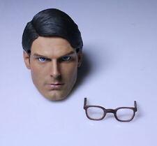 "1:6 Superman Head Sculpt 1978 Version W/Brown Glasses F 12"" Male Action Body"