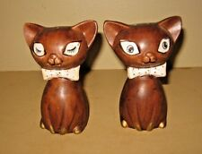 Vintage Lego Winking Kitty Cats Salt & Pepper Shakers