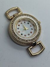 White And Gold Pave Time Key Watch - New - Fits Keep Collective