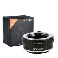 K&F Minolta MD Lens to Sony NEX-5 7 3 F5 5R E-Mount MD-NEX Adapter with Tripod
