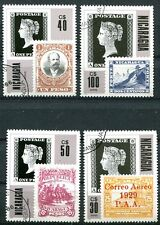 NICARAGUA 1986 PENNY BLACK - STAMP COLLECTING SET OF 4 COMPLETE!