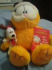 "18"" Garfield Plush  25th Anniversary w/Odie & Book Macy's Limited Edition"