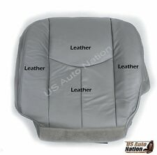 2003 2004 2005 2006 2007 Chevy Silverado Driver Bottom Leather Seat Cover Gray