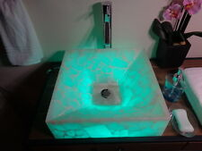 Modern Natural Stone Bathroom Vessel Sink - White Onyx & COLORS !