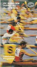 1979 WORLD CANOE CHAMPIONSHIP PROGRAM FROM DUISBURG WEST GERMANY