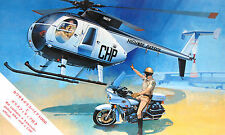 Vintage Hasegawa 1/48 CHiPs HUGHES 500D CHP CALIFORNIA HIGHWAY PATROL Helicopter