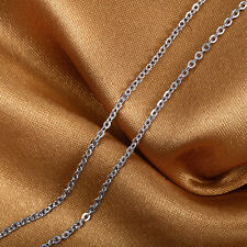 16INCH Platinum 950 Necklace Special O Link Chain /Stamp: Pt950 1.3-1.4g
