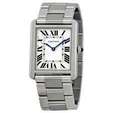 Cartier Tank Solo Stainless Steel Mens Watch W5200014