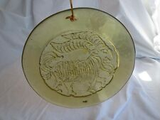 RETRO Art Glass End of Day Pressed Glass Billy Goat Aries Wall Hanging 9 1/2""