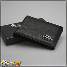 AUDI Genuine Leather Credit Card Holder Driving Licence Wallet Men Auto ID Case