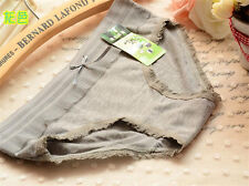 4 pcs Gray bamboo charcoal Girl Women Briefs Panties Underpants Underwear