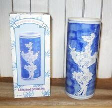 """lot 30 - NEW IN BOX - Oriental Vases Ming Dynasty repro - floral blue white 6"""""""