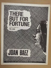 song sheet THERE BUT FOR FORTUNE Joan Beaz 1963