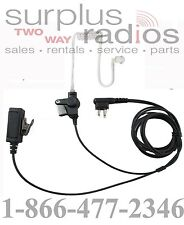 Two Wire Surveillance Headset Motorola CP185 CP200 PR400 BPR40 P1225 GP300 GTX