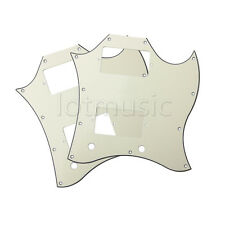 2pcs Guitar Full Face Pickguard For Gibson SG Standard Parts 3 Ply Pale Yellow