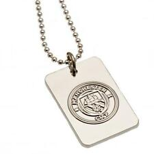 Manchester City Fc Man City Silver Plated Dog Tag & Chain