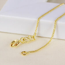 Fashion Jewellry 24k Yellow Gold Filled cuban link Necklace butterfly 17.52 ''