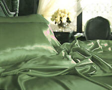 King Satin Charmeuse Bedding Bed Sheet Set Sage/Green
