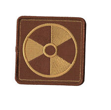 Fallout Nuclear Radiaiton Patch.  Radiaiton Symbol Embroidery Iron on Patch