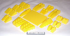 Lego Yellow Slopes and Wedges 8169  Roof Bricks
