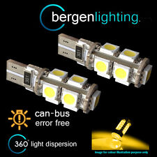 2x W5w T10 501 Canbus Error Free ámbar LED 9 sidelight Laterales Bombillos sl101701