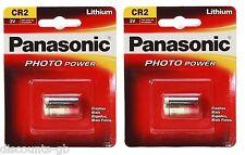 2 x Panasonic CR2 3V Litio Foto Batteria-FOTO FOTOCAMERA - 1cr2, DLCR2 2 4 6 10