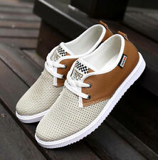 Fashion mens Breathable canvas Loafer casual sneakers Flat Athletic shoes US10