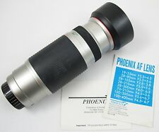 PHOENIX AF 100 - 400 mm Zoom Lens for MINOLTA MAXXUM Cameras F4.5-6.7 67mm Japan